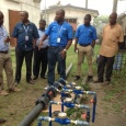 NTA journalists inspect PHWC sample meter system