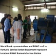 PHWC & World Bank inspect PHWC equipment