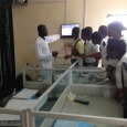 Rivers state College of Health Science &Technology staff & students in PHWC lab at the Waste Water Treatment Plant, Eagle Islan