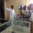 Rivers state College of Health Science &Technology staff & students in PHWC lab at the Waste Water Treatment Plant, Eagle Island