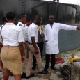 Rivers state College of Health Science &Technology staff & students on tour of PHWC Waste Water Treatment Plant, Eagle Island