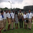 Rivers state College of Health Science &Technology staff & students with PHWC Comm. & PR rep. at the Waste Water Treatment Plant, Eagle Island